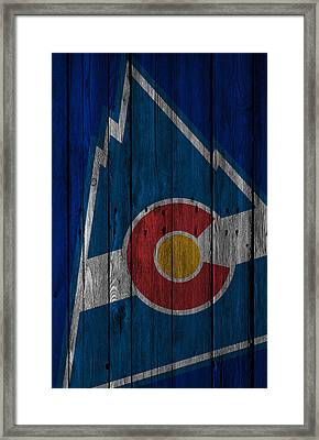 Colorado Rockies Wood Fence Framed Print by Joe Hamilton
