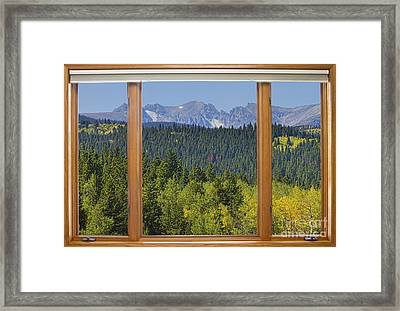 Colorado Rocky Mountain Continental Divide Autumn Window View Framed Print by James BO  Insogna