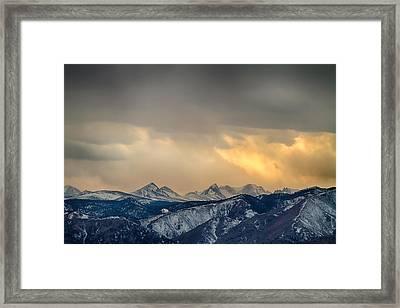 Colorado Rocky Mountain Continental Divide Gold Framed Print