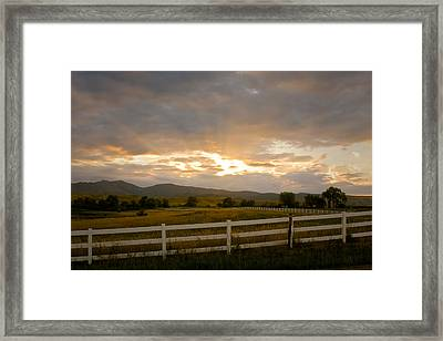 Colorado Rocky Mountain Country Sunset Framed Print by James BO  Insogna