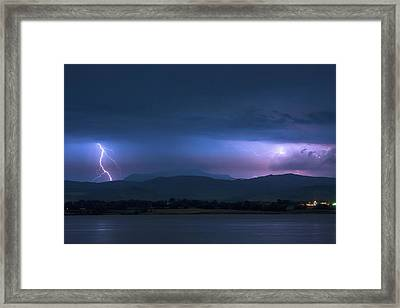 Colorado Rocky Mountain Foothills Storm Framed Print by James BO Insogna