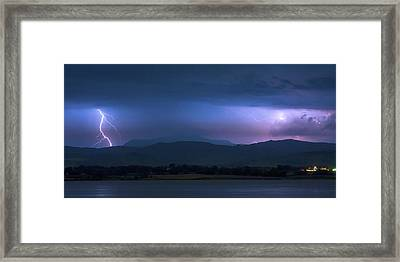 Colorado Rocky Mountain Foothills Storm Panorama Framed Print by James BO Insogna