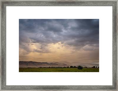 Framed Print featuring the photograph Colorado Rocky Mountain Foothills Storms by James BO Insogna