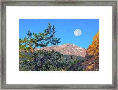 Colorado Rocky Mountain High, Just A Breath Away From Heaven Framed Print
