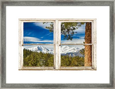 Colorado Rocky Mountain Rustic Window View Framed Print