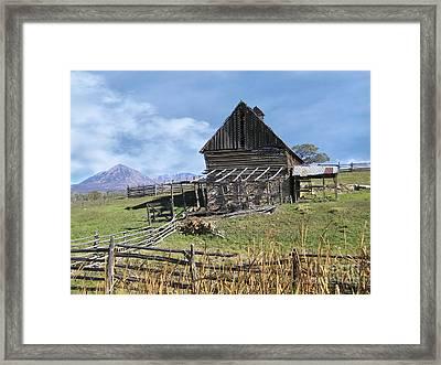 Colorado Rocky Mountain Vintage Barn   Framed Print