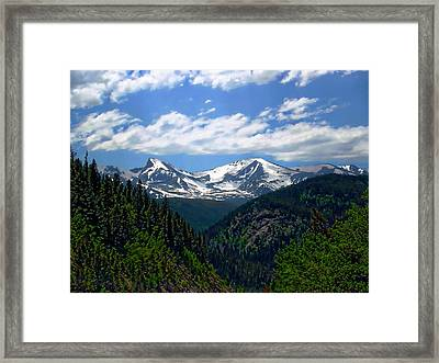 Colorado Rocky Mountains Framed Print by Anthony Dezenzio