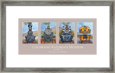Colorado Rr Museum Quadtych Framed Print by Gary Symington