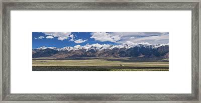 Colorado San De Cristo Mountains Panorama View Framed Print by James BO Insogna