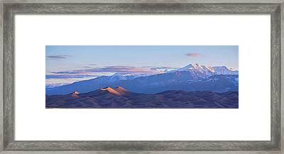 Colorado Sand Dunes First Light Sunrise Panorama Framed Print by James BO Insogna