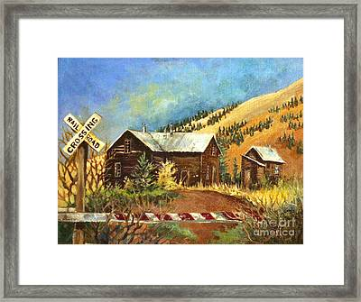 Framed Print featuring the painting Colorado Shed by Linda Shackelford