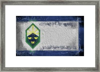 Framed Print featuring the digital art Colorado Springs City Flag by JC Findley