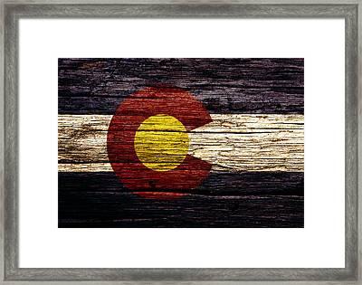 Colorado State Flag 3w Framed Print by Brian Reaves