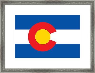Colorado State Flag Framed Print by American School