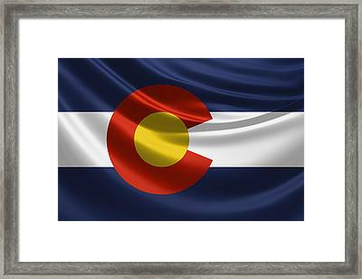 Colorado State Flag Framed Print by Serge Averbukh