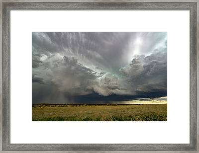 Colorado Supercell Framed Print by James Hammett