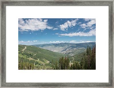 Colorado Vista From Trail To Beaver Lake Framed Print