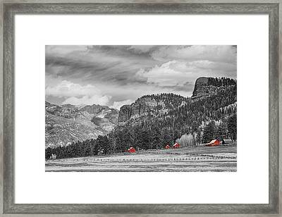 Colorado Western Landscape Red Barns Framed Print by James BO  Insogna