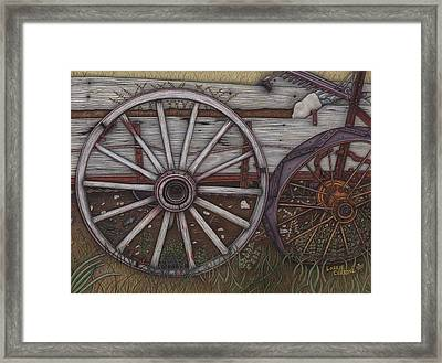 Colorado Wheels Framed Print