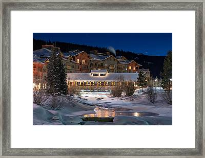 Colorado Winter Evening Framed Print by Michael J Bauer