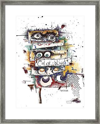 Colorblind Framed Print by Teddy Campagna