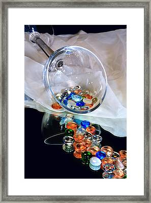 Colored Baubles Framed Print by Camille Lopez