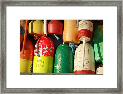 Colored Buoys Framed Print
