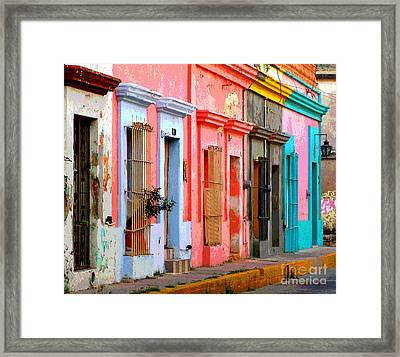 Colored Casas By Darian Day Framed Print