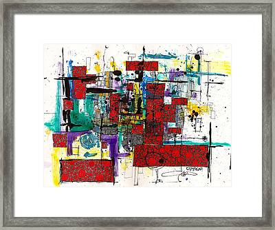 Colored Chaos Framed Print by Teddy Campagna