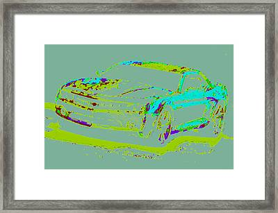 Colored Chevy D4 Framed Print by Modified Image
