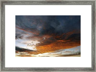 Colored Clouds At Sunset Framed Print