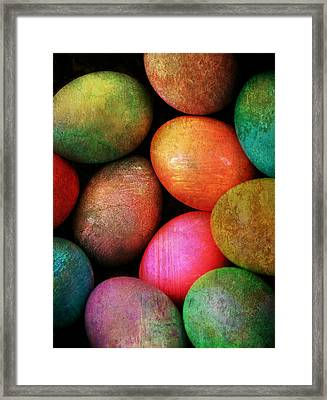 Colored Eggs Framed Print by Shirley Sirois