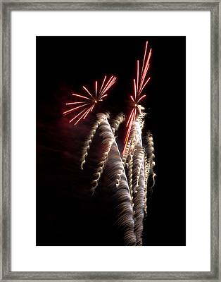 Colored Firebursts Framed Print by Kevin Munro
