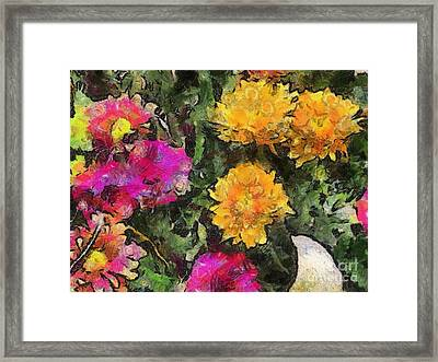 Colored Flowers Framed Print