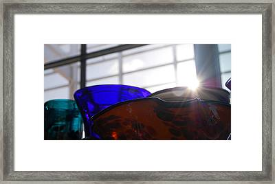 Colored Glass Horizon Framed Print by Jean Booth