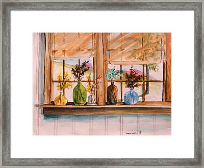 Colored Glass Framed Print by John Williams