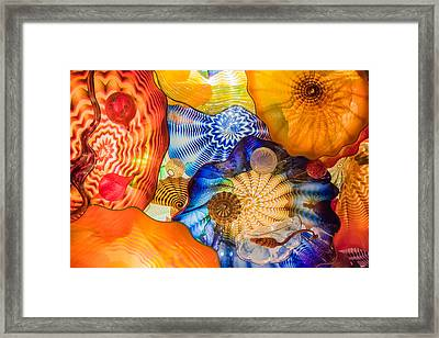 Colored Glass Framed Print by Roger Mullenhour