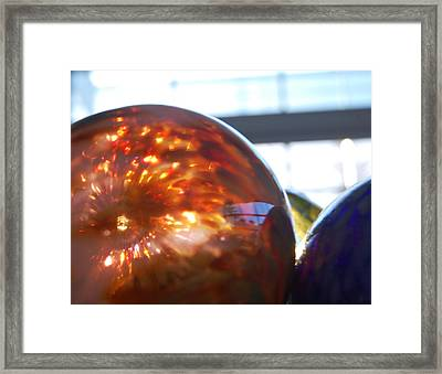 Colored Glass Universe Framed Print by Jean Booth