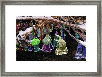 Colored Ice Bells Framed Print