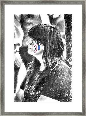 Colored Ink In A Black And White World Framed Print