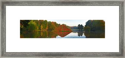 Colored Lake Pyramid Framed Print