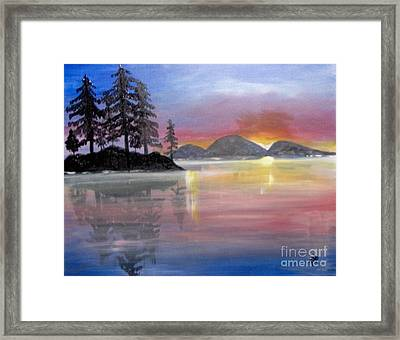 Framed Print featuring the painting Colored Lake by Saundra Johnson