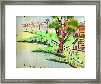 Colored Landscape Framed Print by Tanmay Singh