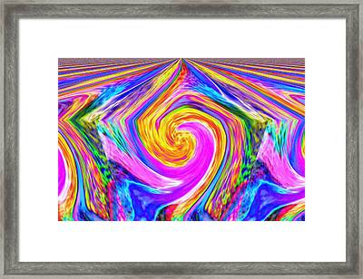 Colored Lines And Curls Framed Print by Jeff Swan