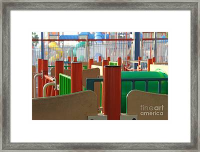 Colored Lines Framed Print by Doc Braham