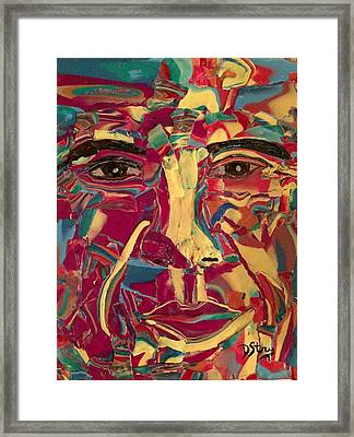 Colored Man Framed Print