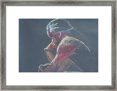 Colored Pencil Sketch Framed Print