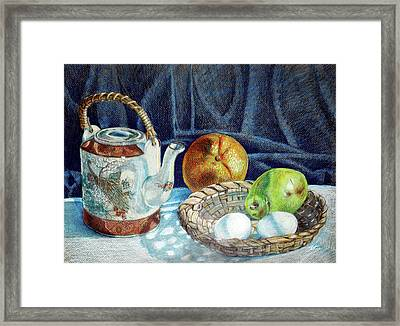 Colored Pencil Still Life No2 Framed Print by Stephen Boyle