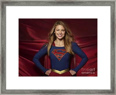Colored Pencil Study Of Supergirl - Melissa Benoist Framed Print