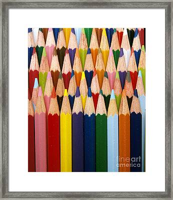 Colored Pencils Framed Print by Gerard Lacz